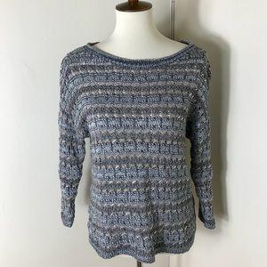Lucky Brand metallic stripe sweater